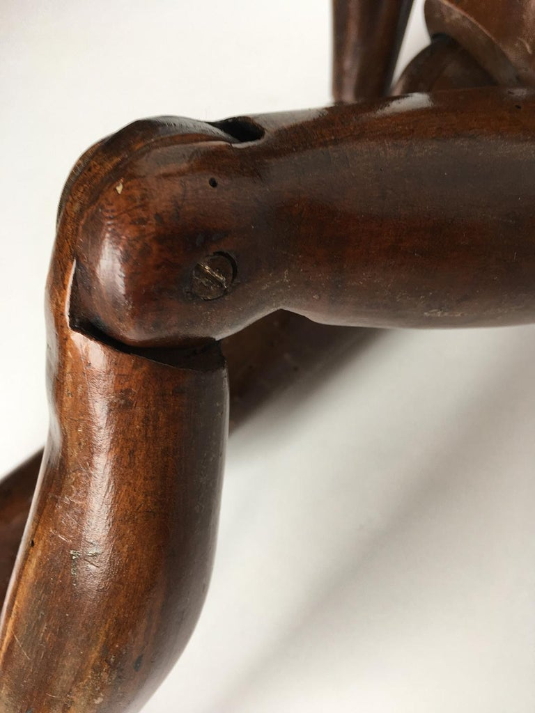 Mid-19th Century 19th Century French or Italian Wood Mannequin, circa 1850 For Sale