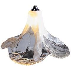 XL 1970s Tulip Murano Glass Pendant Lamp by Carlo Nason for Mazzega