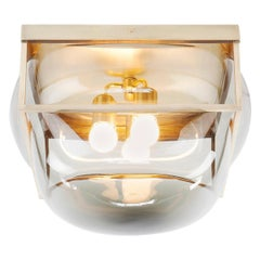 XL Bulle Light with Handblown Glass Solid Brass as Sconce, Flush, or Table Lamp
