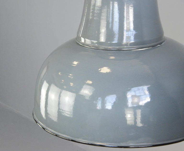 Industrial Extra Large Factory Lights by Schaco, circa 1930s