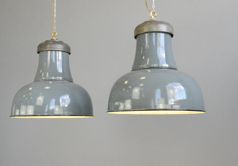German Extra Large Factory Lights by Schaco, circa 1930s