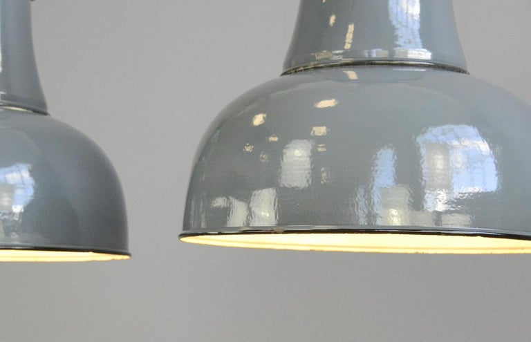 Extra Large Factory Lights by Schaco, circa 1930s In Good Condition In Gloucester, GB