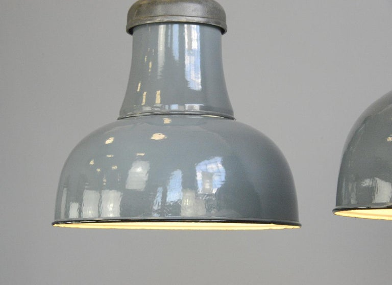 Mid-20th Century Extra Large Factory Lights by Schaco, circa 1930s