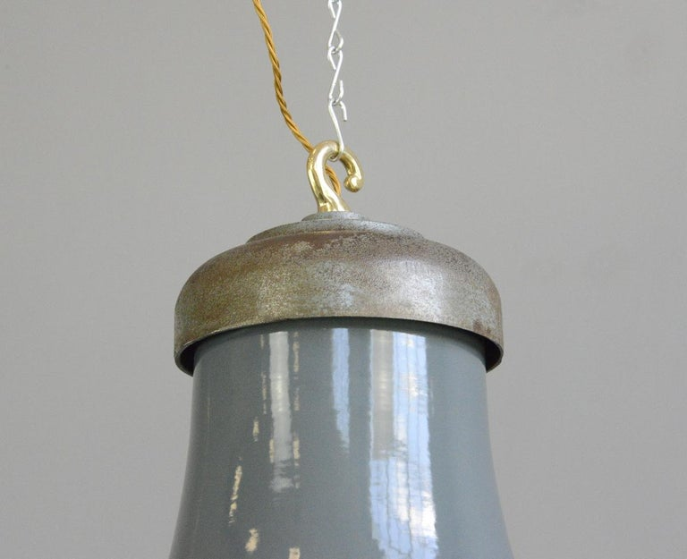 Extra Large Factory Lights by Schaco, circa 1930s 1