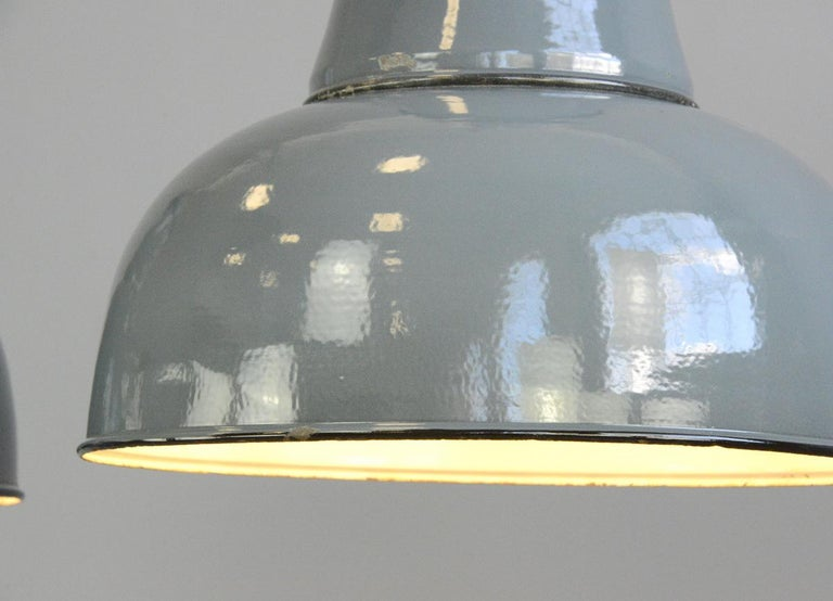 Extra Large Factory Lights by Schaco, circa 1930s 2