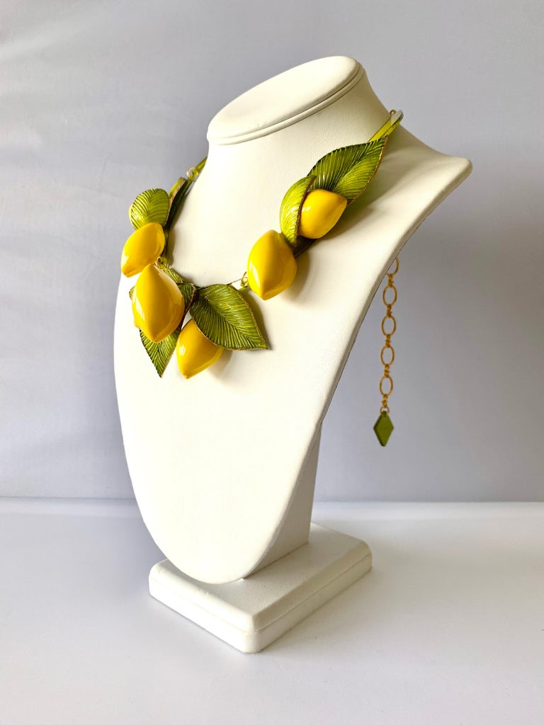 Contemporary XL French Lemon Statement Necklace