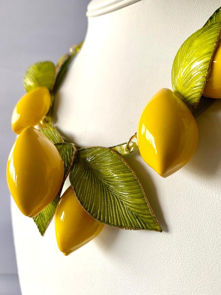 XL French Lemon Statement Necklace