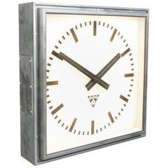 XL Light Up Station Clock by Pragotron, Circa 1950s