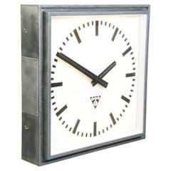 XL Light Up Station Clock by Pragotron Circa 1950s