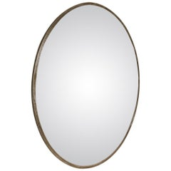 Extra Large Midcentury Convex Railroad Mirror