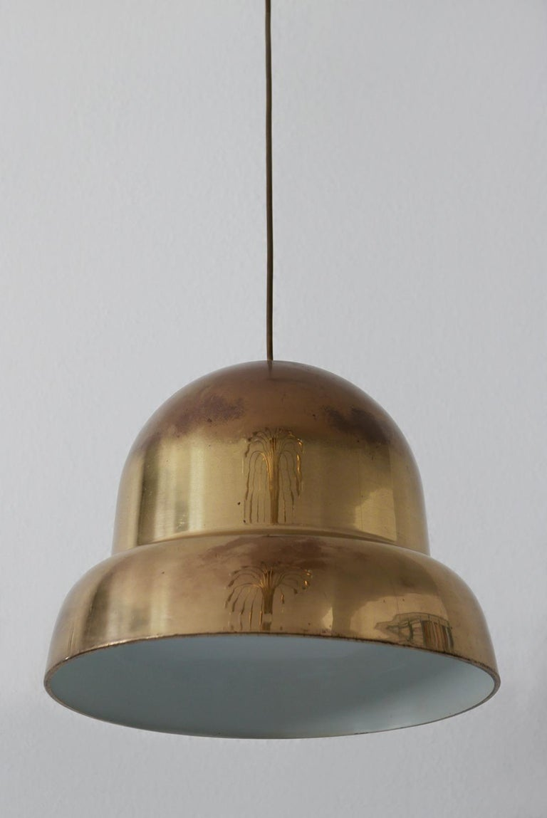 Extra Large Mid-Century Modern Brass Pendant Lamp by Bergboms, 1950s, Sweden For Sale 5