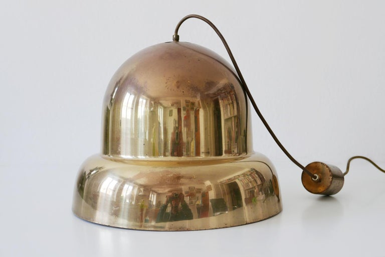 Extra Large Mid-Century Modern Brass Pendant Lamp by Bergboms, 1950s, Sweden For Sale 6