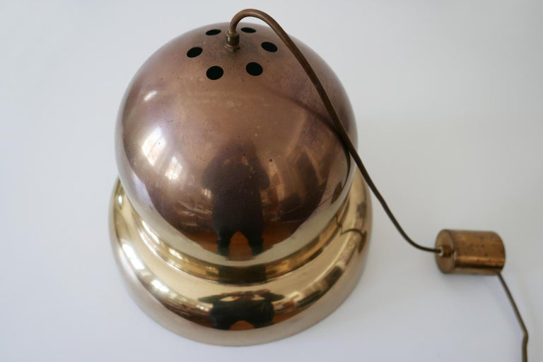 Extra Large Mid-Century Modern Brass Pendant Lamp by Bergboms, 1950s, Sweden For Sale 7