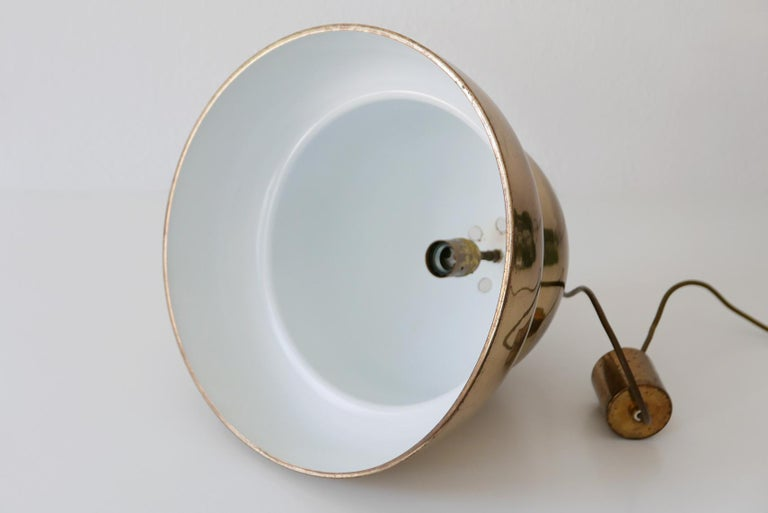 Extra Large Mid-Century Modern Brass Pendant Lamp by Bergboms, 1950s, Sweden For Sale 9