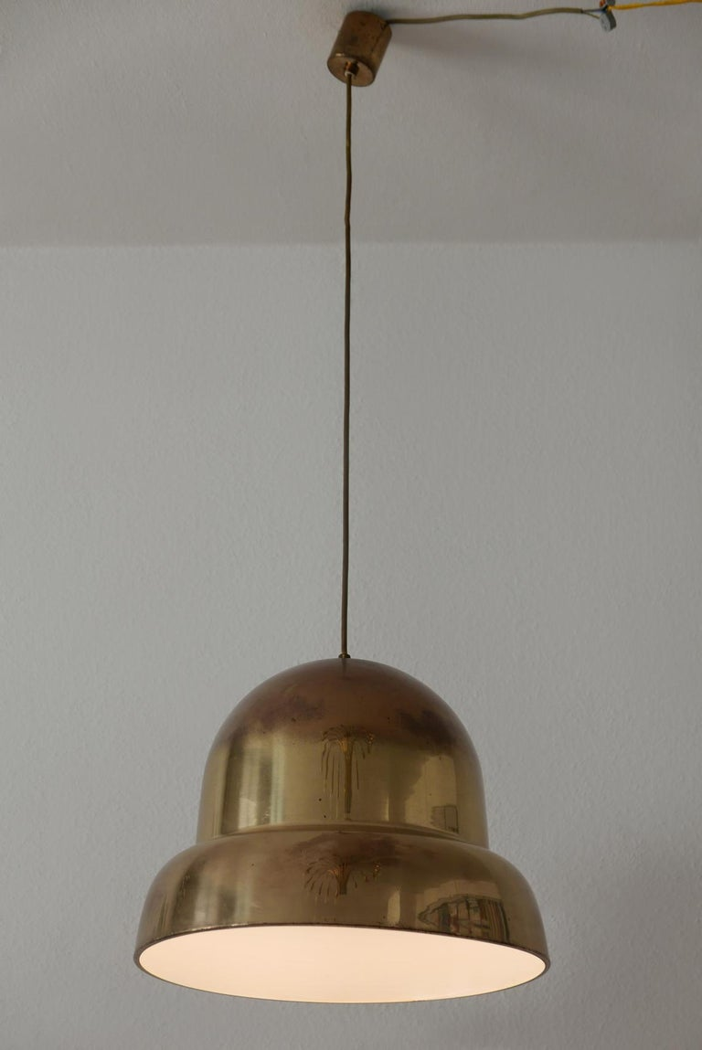Extra Large Mid-Century Modern Brass Pendant Lamp by Bergboms, 1950s, Sweden For Sale 4