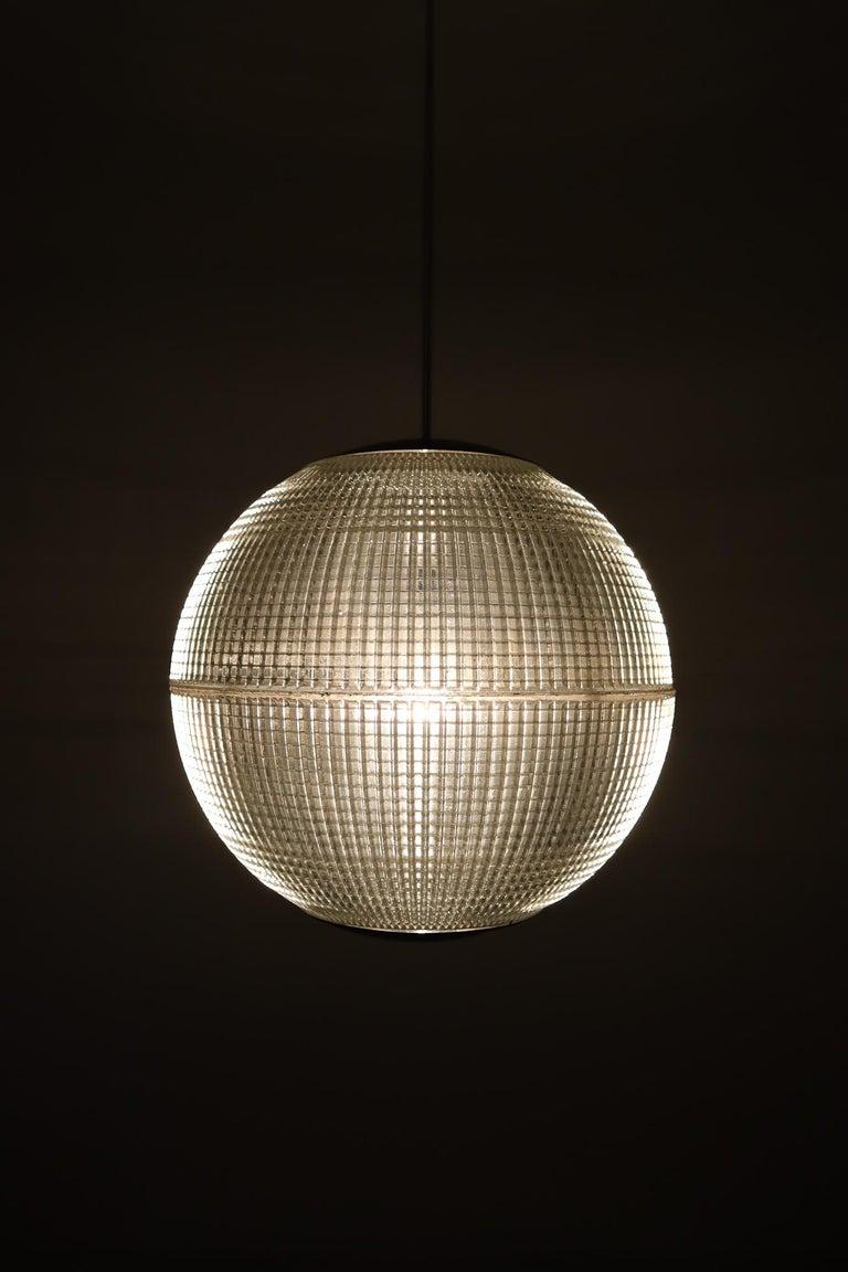 20th Century XL Mid-Century Modern Holophane Paris Street Pendant Lights, France, 1960s For Sale