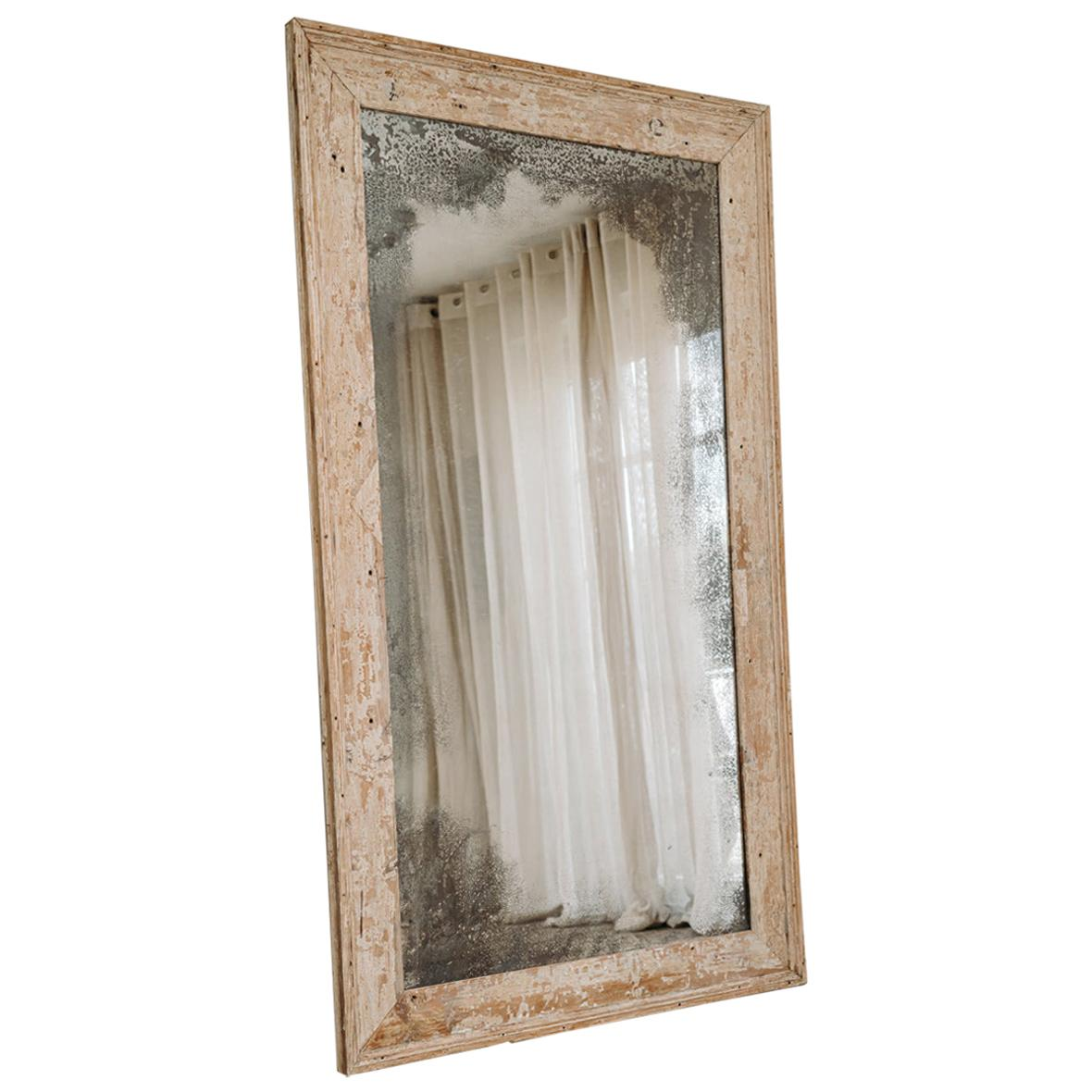 Xl Mirror with Distressed Mirror Glass