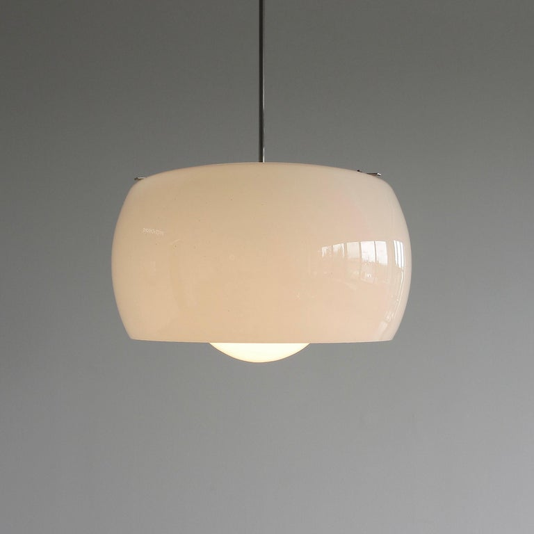 Modern XL Omega Hanging Lamp by Vico Magistretti, 1962 For Sale