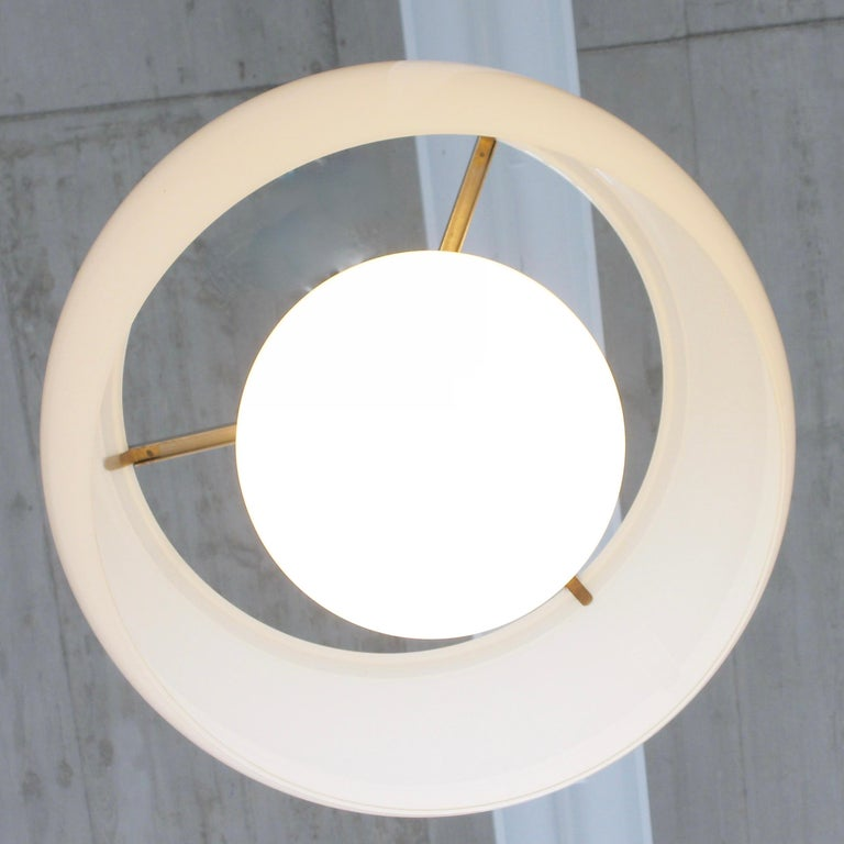 Mid-20th Century XL Omega Hanging Lamp by Vico Magistretti, 1962 For Sale