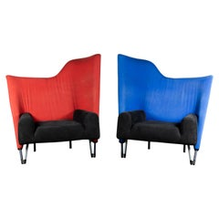 Extra Large Pair of Original Cassina Torso Lounge Chairs by Paolo Deganello