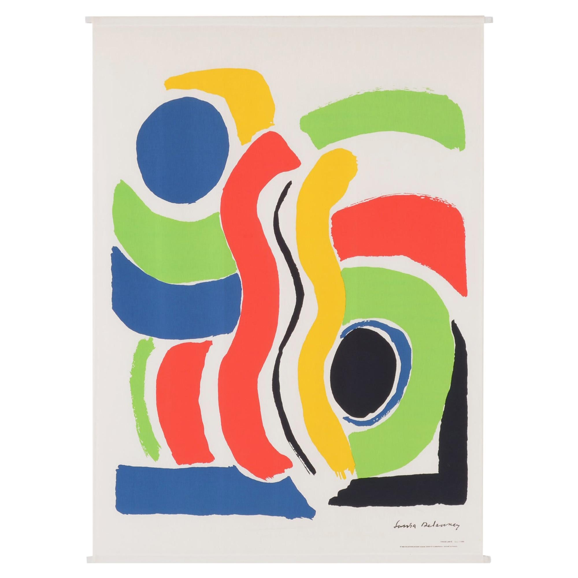 Extra Large Print on Canvas of Sonia Delaunay by Jacques Damase, 1992