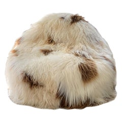 XL Shaggy Bean Bag Chair Cover, Sheepskin Caramel Spot