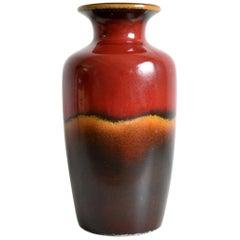 XL Vintage Mid Century 1960's 1970's West German Pottery Vase, Scheurich Keramik