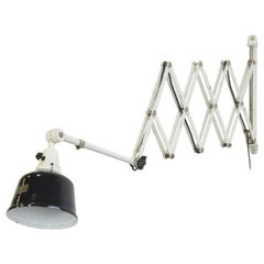 Extra Large Wall-Mounted Scissor Lamp by Midgard, circa 1940s