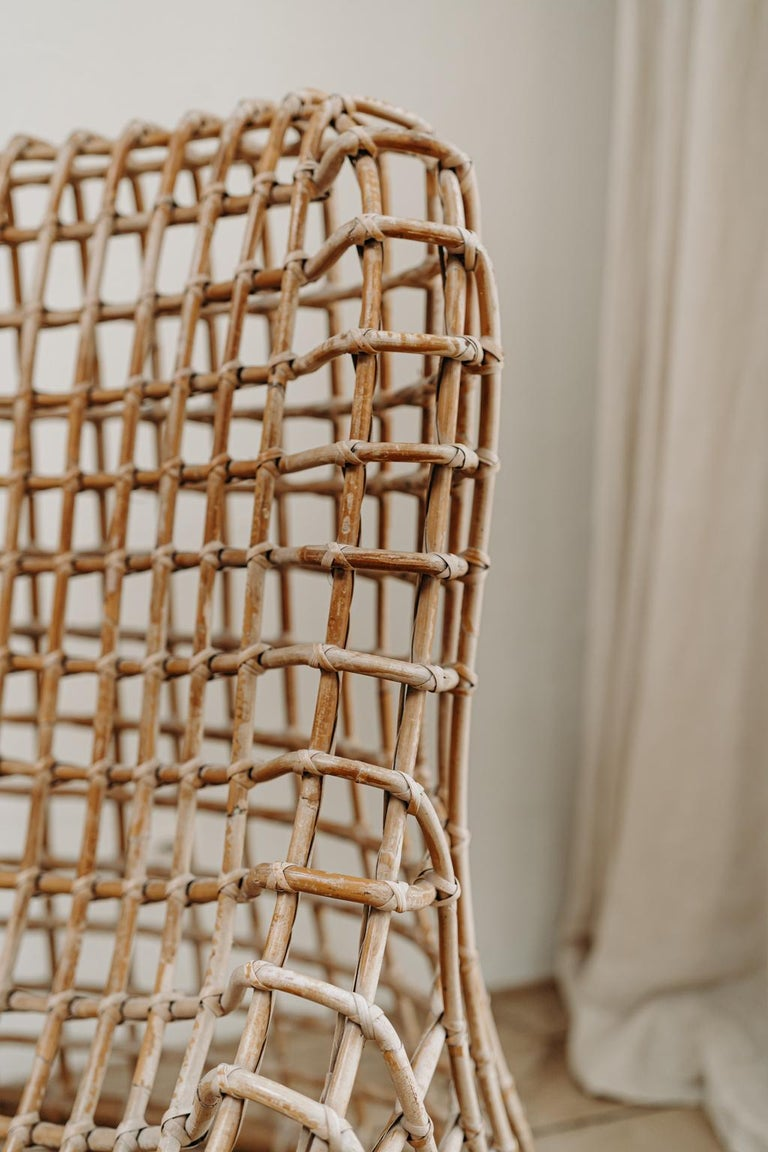 Xl Wicker Chair by Giovanni travasa  For Sale 4