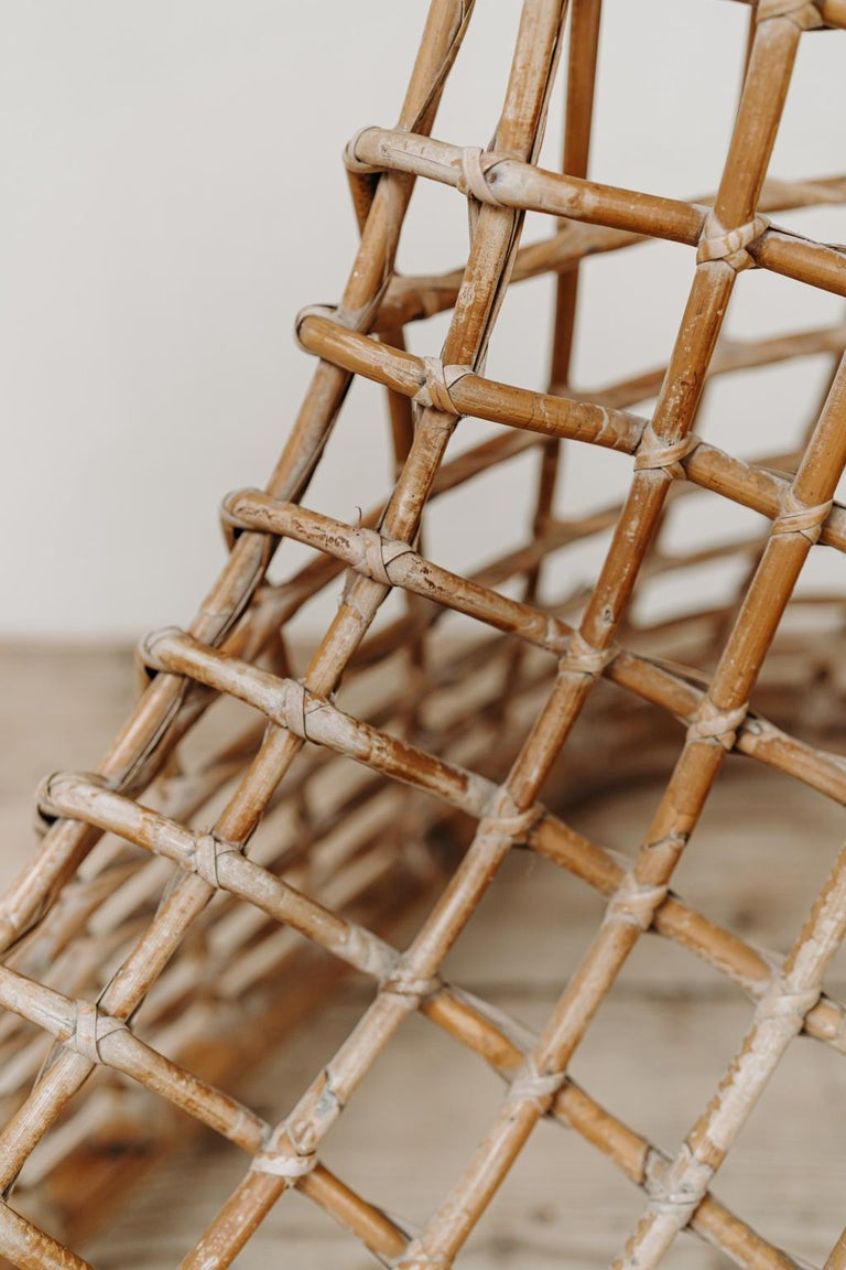 Xl Wicker Chair by Giovanni travasa  For Sale 5