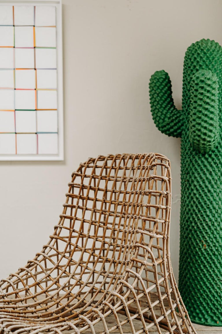 Xl Wicker Chair by Giovanni travasa  For Sale 6