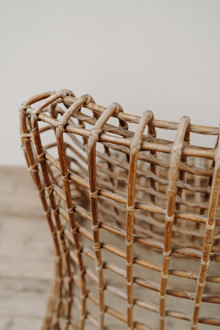 Xl Wicker Chair by Giovanni travasa  For Sale 7