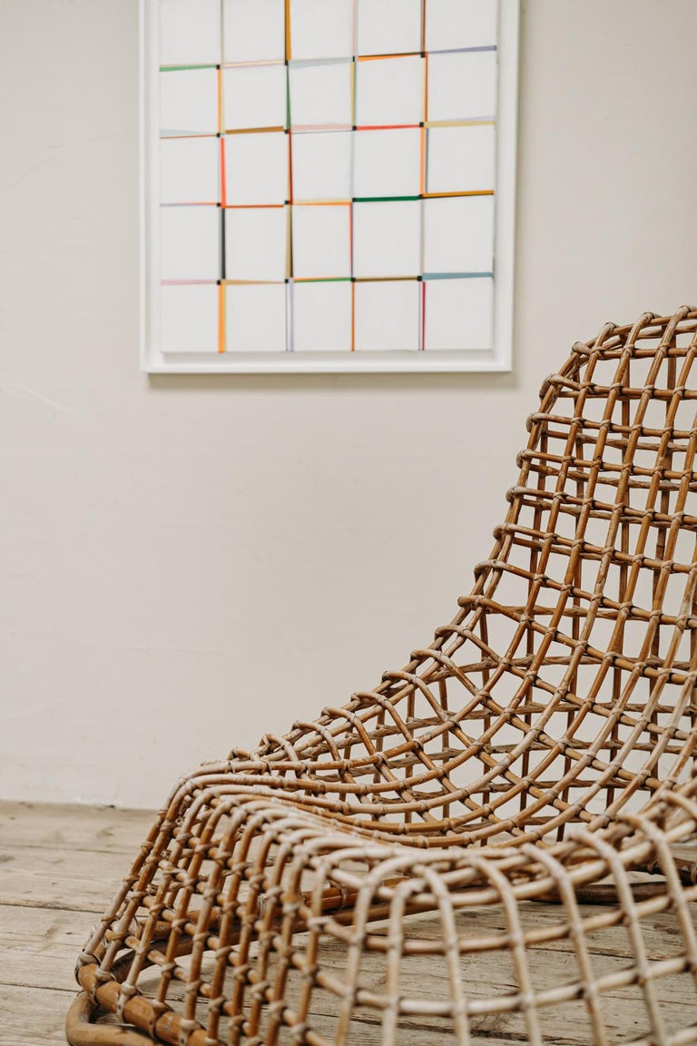 Xl Wicker Chair by Giovanni travasa  For Sale 8