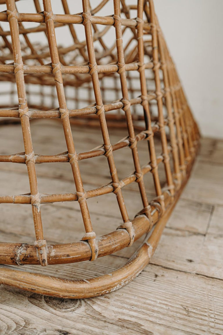 Xl Wicker Chair by Giovanni travasa  For Sale 9
