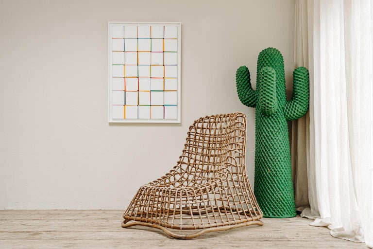 Xl Wicker Chair by Giovanni travasa  In Good Condition For Sale In Brecht, BE