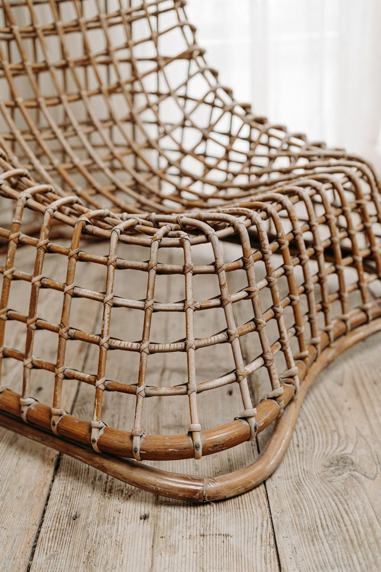 Xl Wicker Chair by Giovanni travasa  For Sale 2