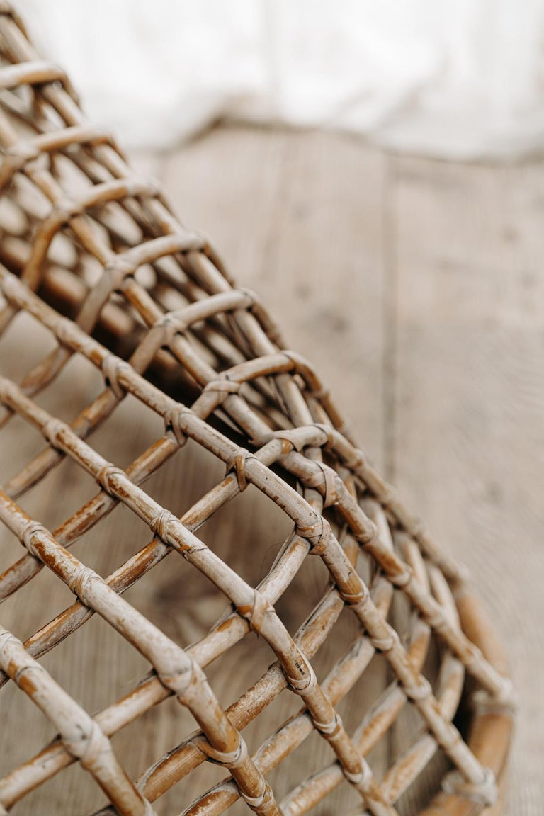 Xl Wicker Chair by Giovanni travasa  For Sale 3
