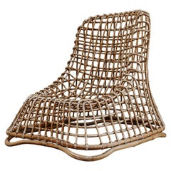 Xl Wicker Chair by Giovanni travasa