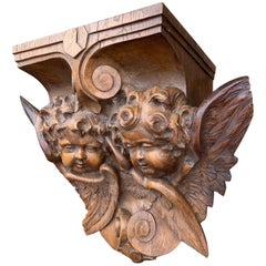 Extra Large & Top Quality Carved Gothic Church Wall Bracket, Auguste Van Assche
