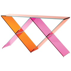 XX Glass Console Table, by Johanna Grawunder from Glas Italia