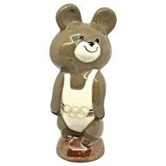 XXII Moscow Olympic Games 1980 Porcelain Mascot Misha Mishka Bear Vintage