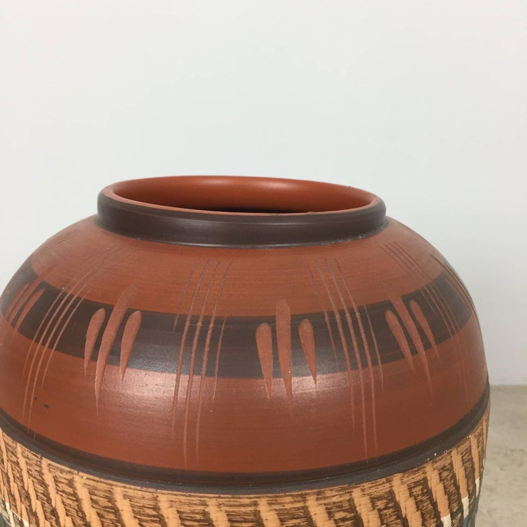 Extra Large Vintage Handmade Ceramic Pottery Floor Vase, Germany, 1960s For Sale 1
