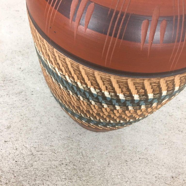 Extra Large Vintage Handmade Ceramic Pottery Floor Vase, Germany, 1960s For Sale 4