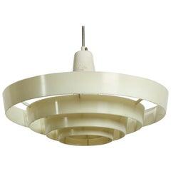 XXL Art Deco Modernist industrial slat ceiling lamp from Siemens & Schuckert