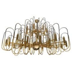Extra Large Brass Chandelier Astrolab by Sciolari, Italy, 1970s