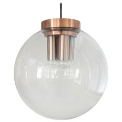 Extra Large Glass Globe Pendant Lamp for RAAK, the Netherlands 1960s 4 Available