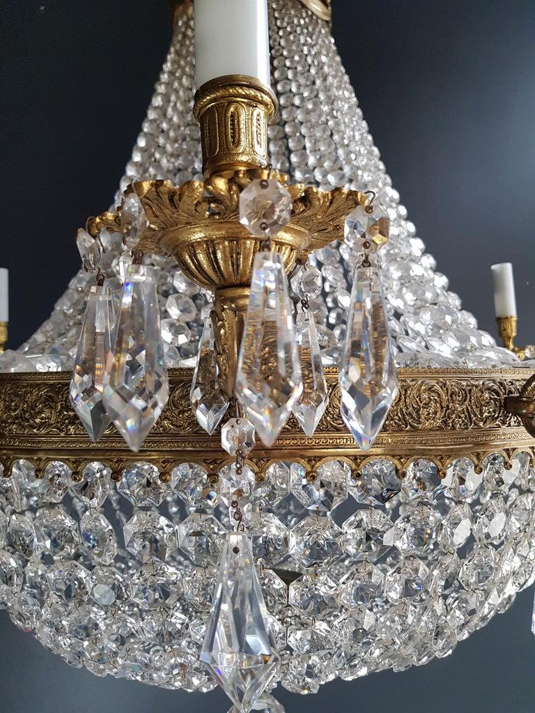 XXL Huge Montgolfièr Empire Sac a Pearl Chandelier Crystal Lustre Ceiling Lamp For Sale 3