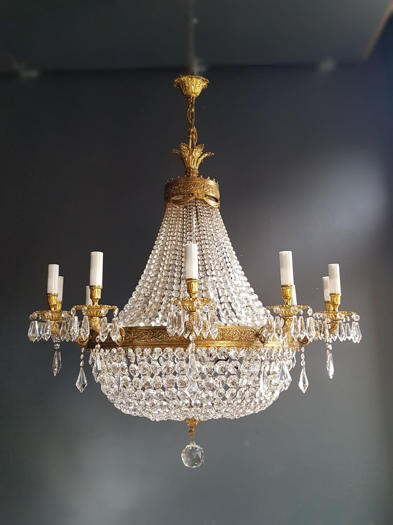 XXL Huge Montgolfièr Empire Sac a Pearl Chandelier Crystal Lustre Ceiling Lamp For Sale 6