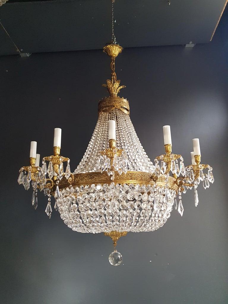 XXL Huge Montgolfièr Empire Sac a Pearl Chandelier Crystal Lustre Ceiling Lamp For Sale 7