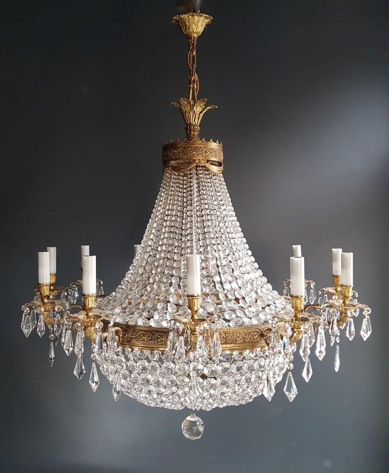 XXL Huge Montgolfièr Empire Sac a Pearl Chandelier Crystal Lustre Ceiling Lamp For Sale 8